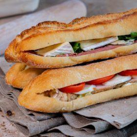 Sandwich baguette Augustine complet surimi